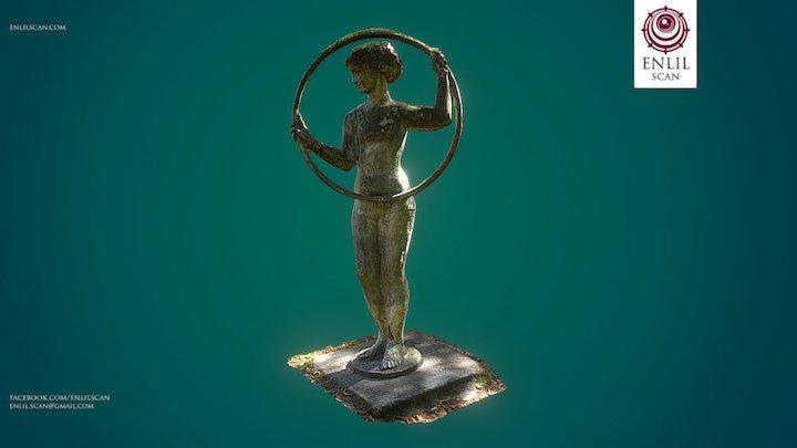 "Gymnast Sculpture ""Gimnastyczka"" Poznan/Poland 3D Model"