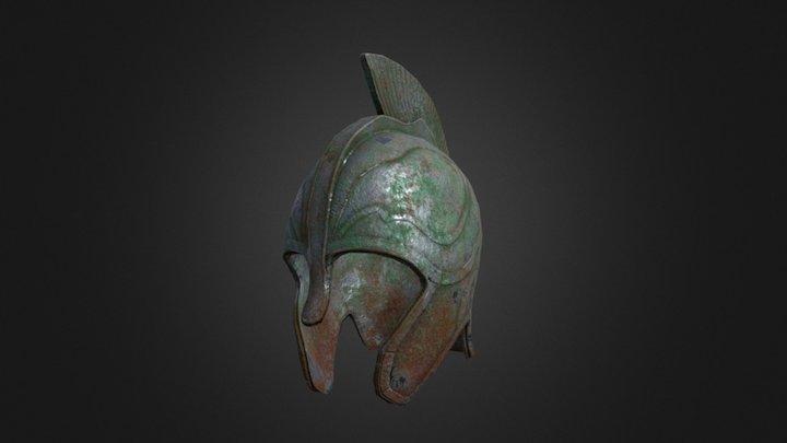 Corroded Myrmidon Helmet 3D Model
