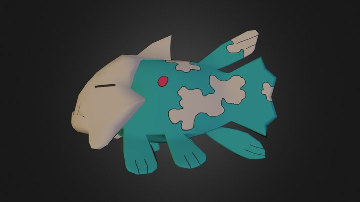 Shiny Relicanth 3D Model