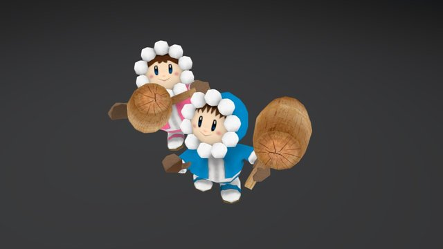 Ice Climber character 3D Model