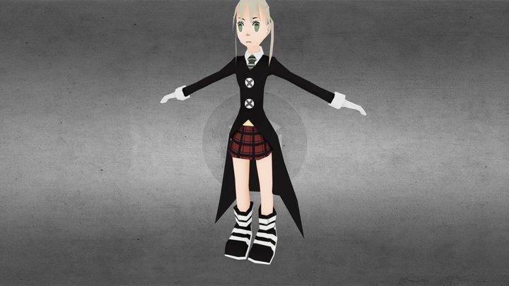 Maka Albarn from Soul Eater anime 3D Model