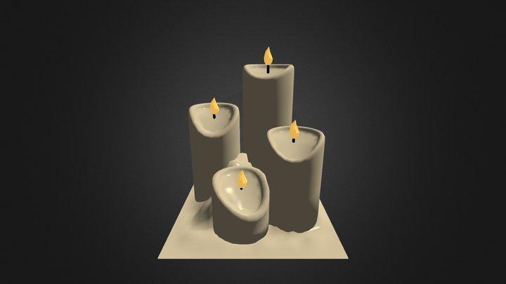 Candles 3D Model