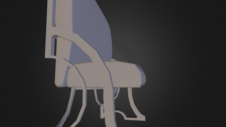 Booth Seat 3D Model