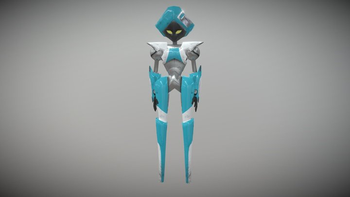 Blue Robot from Jackbox 5 3D Model