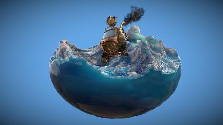 Wavey Ride 3D Model
