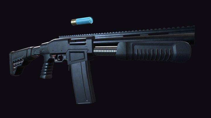 Shotgun Dagger SAP6 3D Model