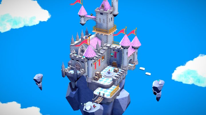 Castle level 3D Model