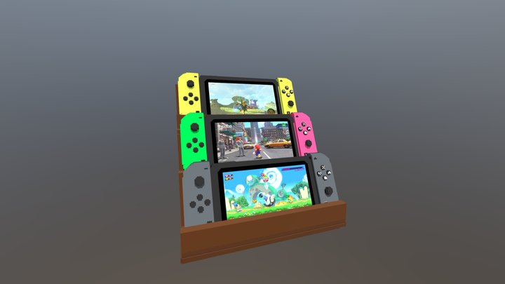 Nintendo Switch Collection (128x Voxel) 3D Model
