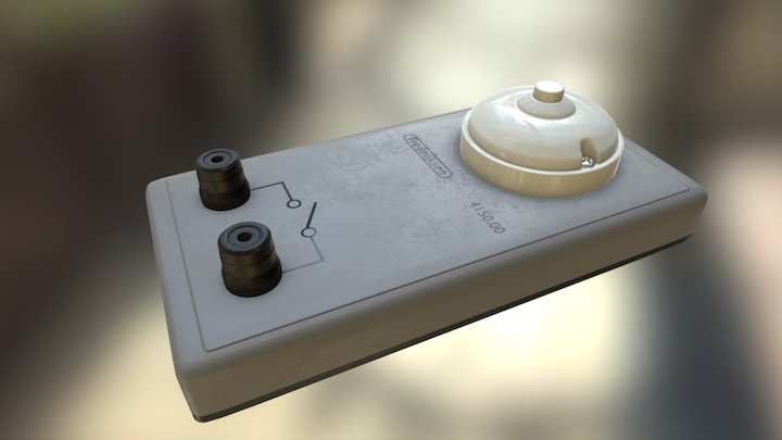 Push button switch on base 3D Model