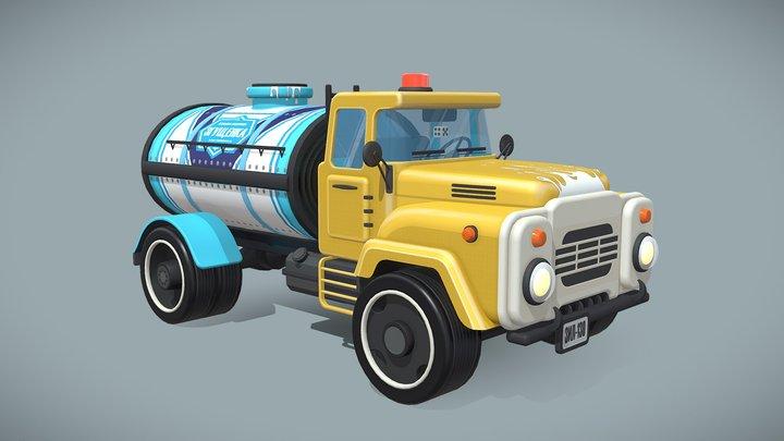 Vehicle Zil-130 (stylized) 3D Model