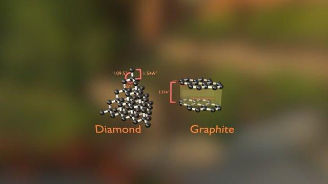 Diamond And Graphite Covalent Model 3D Model