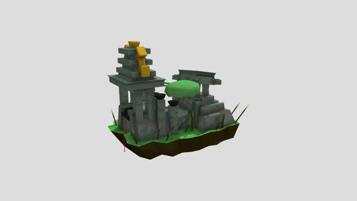 Mpotl Sacrificial Tomb 3D Model