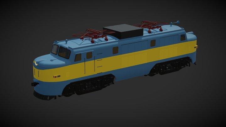 Locomotora eléctrica E3020 3D Model