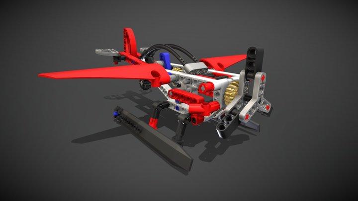 Lego Technic Seaplane 3D Model