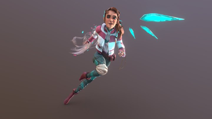 Wind Hero 3D Model