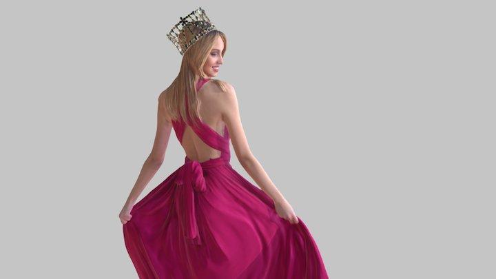 Miss Slovakia 2016 - Kristína Činčurová 3D Model