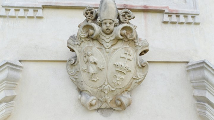 Coat of Arms on Church of Guardian Angels 3D Model