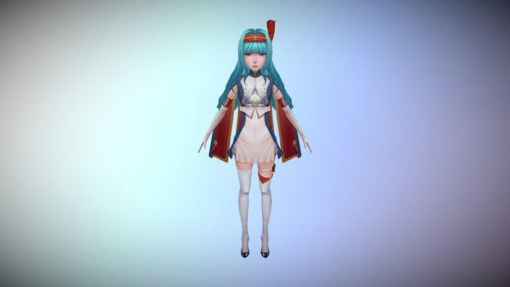 hand-painted girl 3D Model