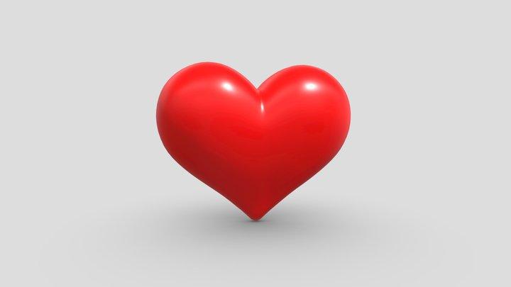 Heart emoji 3D Model