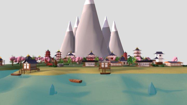 Japón Tradicional 3D Model