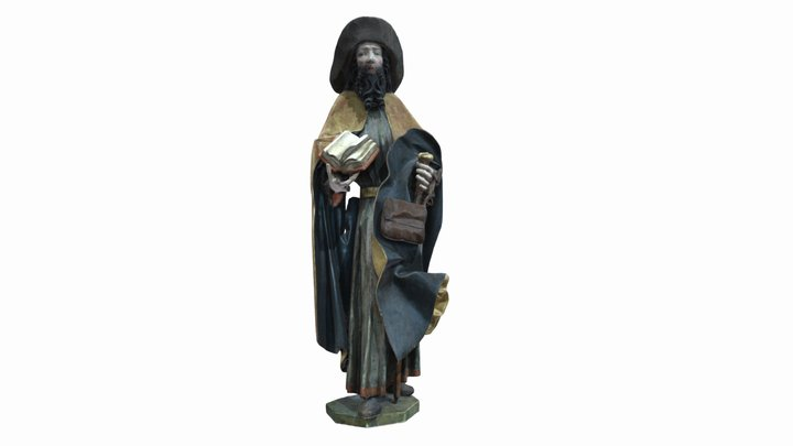 Late-Gothic sculpture of Saint James the Great 3D Model
