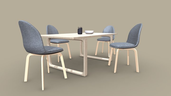 Table Set Sammen 3D Model