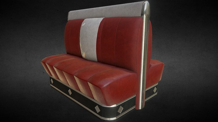 Diner double seat 3D Model