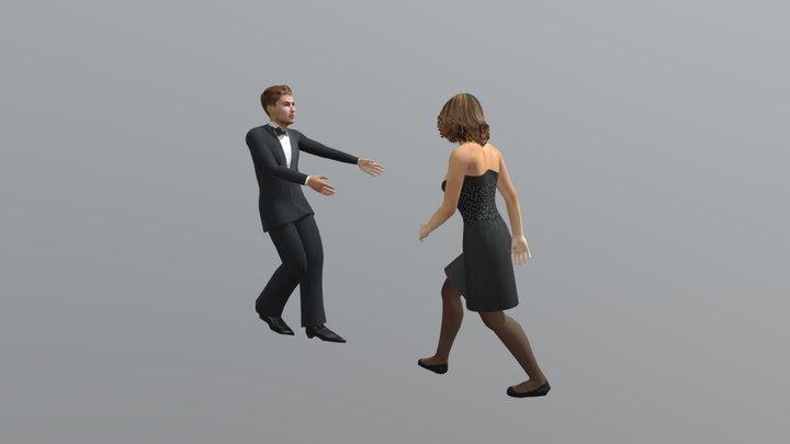 Salsa Dancing 3D Model