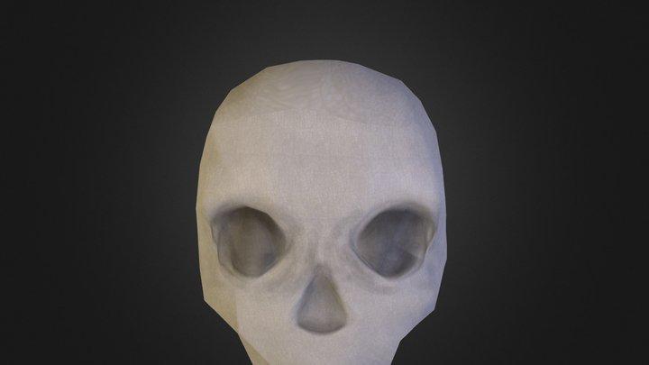 bennig low poly skalle utan tänder 3D Model