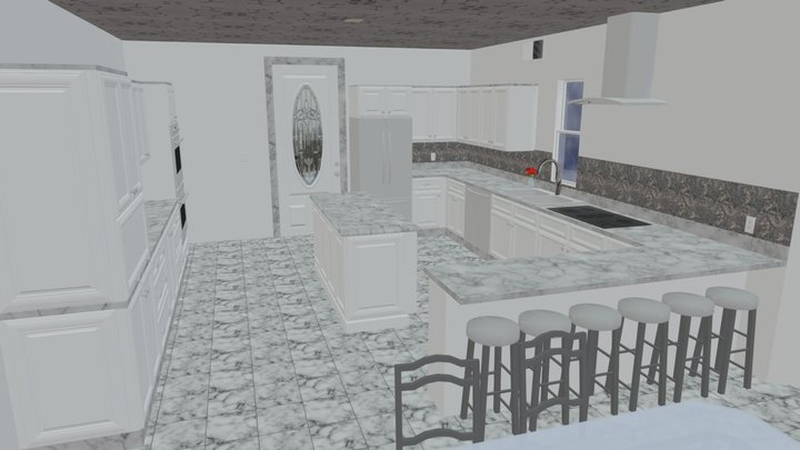 High quality House with interior 3D Model