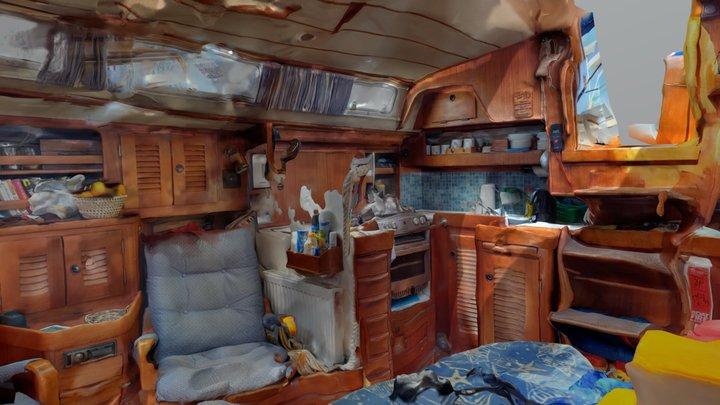 Yacht Meredith Saloon 3D Model
