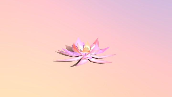 Low-poly Lotus 3D Model