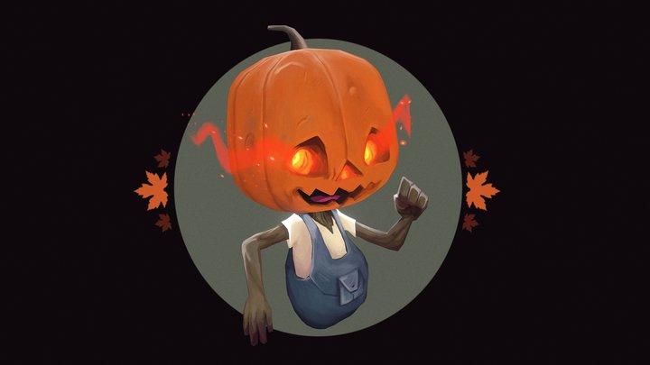 Spooky Pumpkin 3D Model