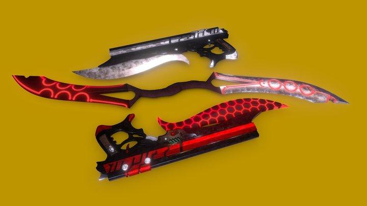 Emiya Alter' Weapons 3D Model