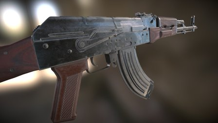 AKM assault rifle 3D Model