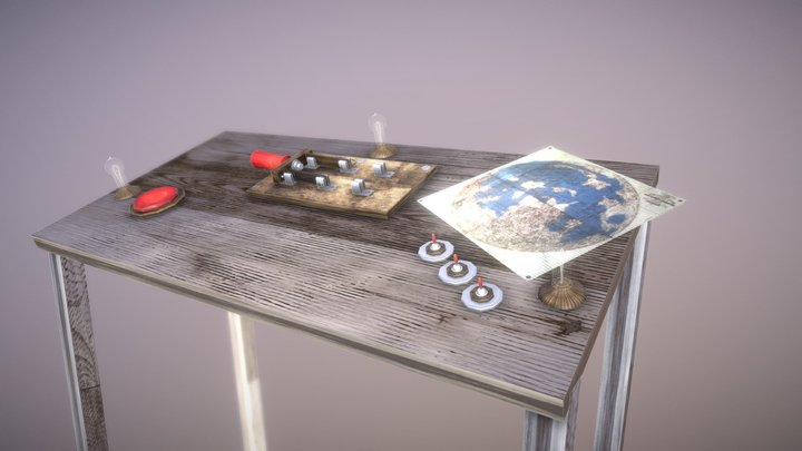 Jules Verne control desk 3D Model