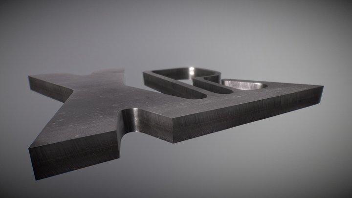 Muestra de corte de acero inoxidable 3D Model