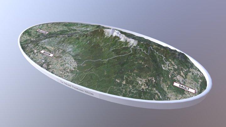Le Mont Ventoux 3D Model