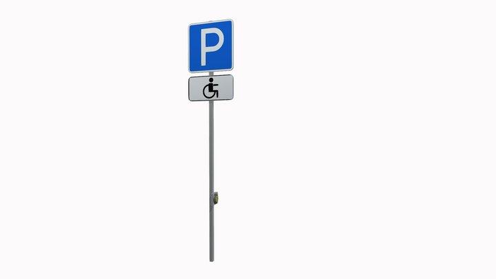 ДОРОЖНЫЙ ЗНАК «Парковочное место для инвалида' 3D Model