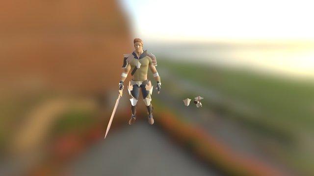 Warrior Maya+zBrush WIP 3D Model