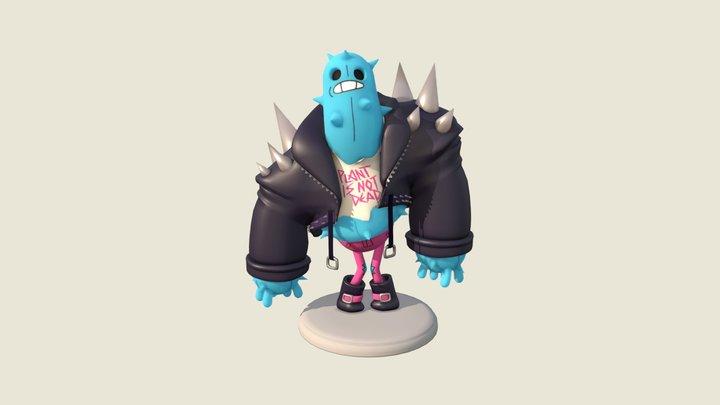Punk Cactus 3D Model