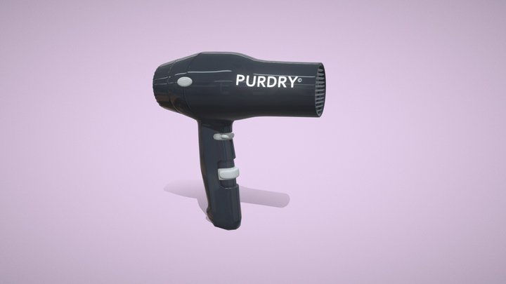 Salon Hair Dryer 3D Model