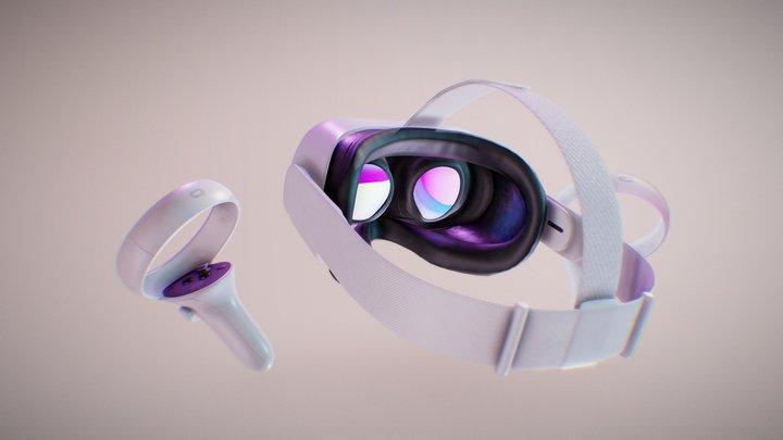 Quest 2 Headset - FanArt 3D Model