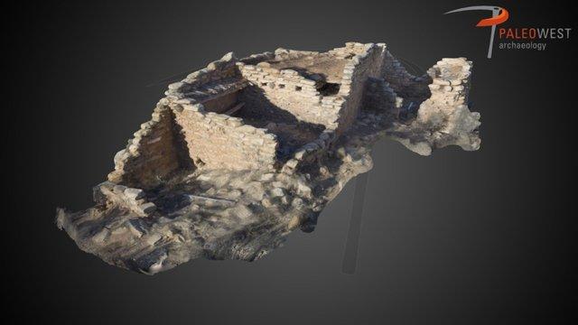 Hooded Fireplace Ruin 3D Model