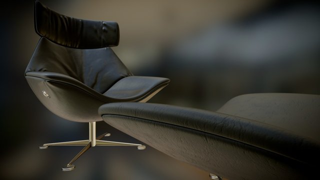 Egon Walter Knoll Chair 3D Model