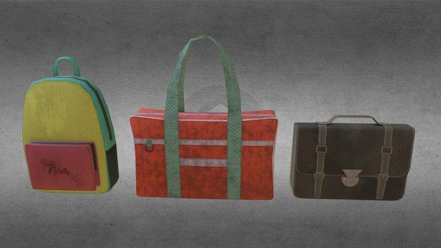 School bags 3D Model