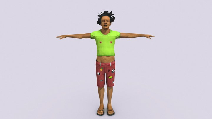Eric Andre T-pose 3D Model