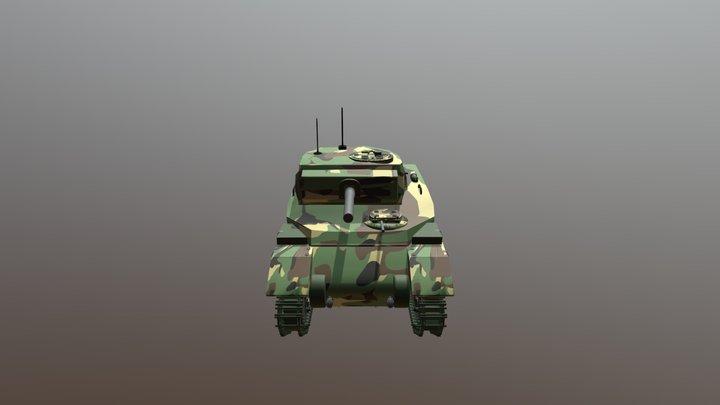 TANK RAM II Textured 2 3D Model