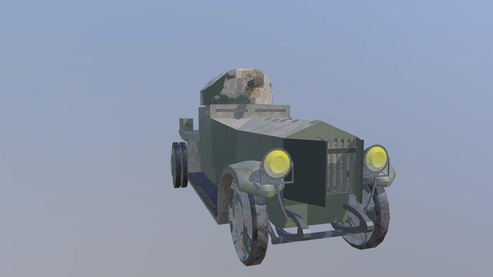 Rolls Royce Armoured Car mk 2 3D Model