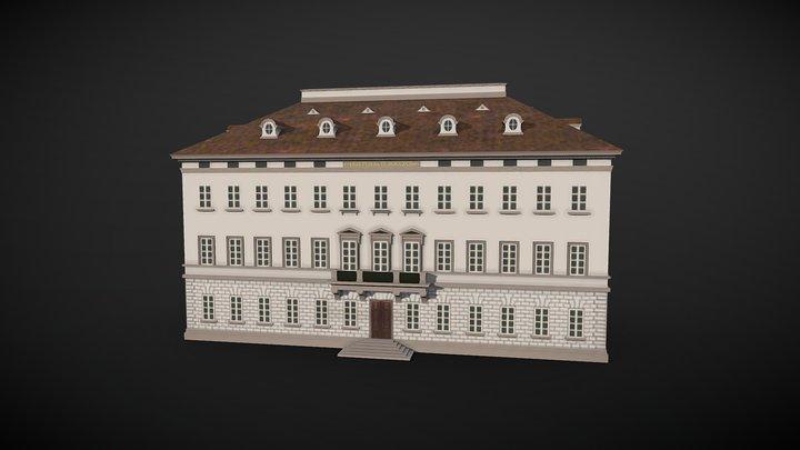 Peter Joseph Krahe - Draft of a Palace 3D Model